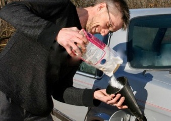Putting Sugar into car gas tank